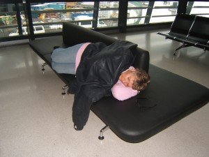 Sweet dreams in the Vienna airport