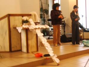 Shame, blame, grief, disappointments -- nailed to the cross.