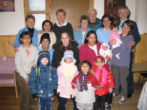 Residents and staff at River of Life