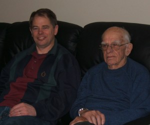 Gene and his dad, Tim