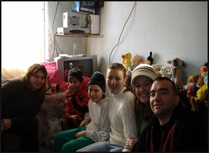 Our career missionaries visiting HIV/AIDS-infected youth in a Romanian hospital