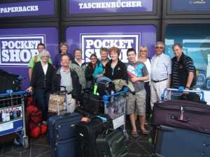 Our team heading home via Berlin