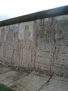 Infamous Berlin wall. Note the rounded top.
