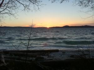 Morning sunrise enjoyed at my mini-retreat.