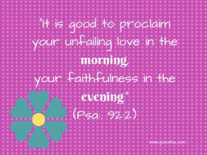 Psalm 92 2