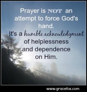 prayer is not
