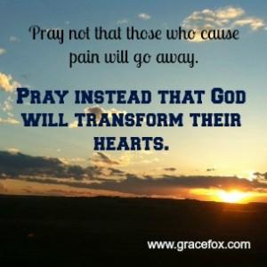 pray for life change