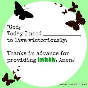 God gives lavishly