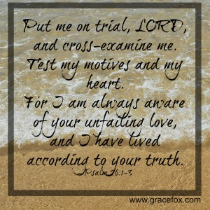 Psalm 26-1-3
