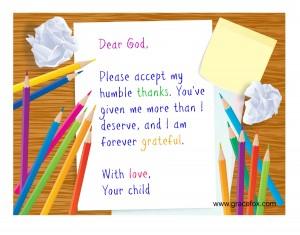 gratitude with pencil crayons