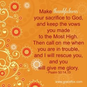Psalm 50-14,15