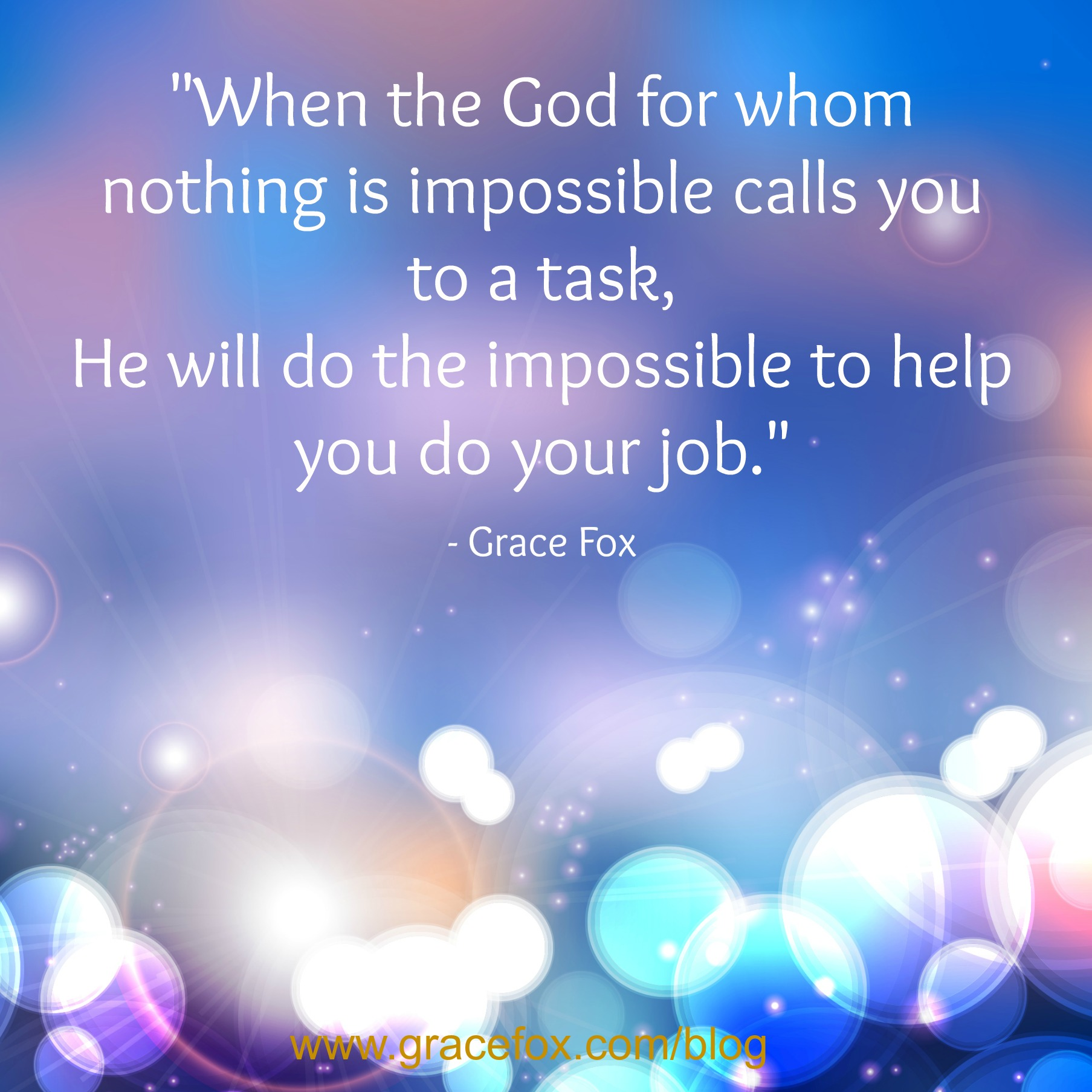 A Prayer For When Facing an Impossible Task  