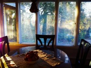 sunshine through window