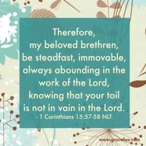 1 Corinthians 15-57-58