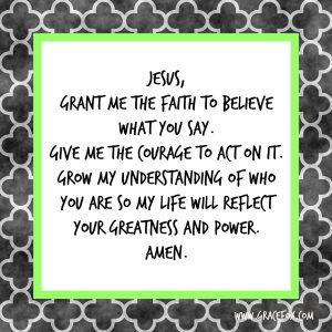 Believe Jesus words