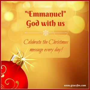 """The message of Christmas is """"Emmanuel—God with us."""" It celebrates God becoming man and moving into our neighborhood. He became like us in every way, ..."""
