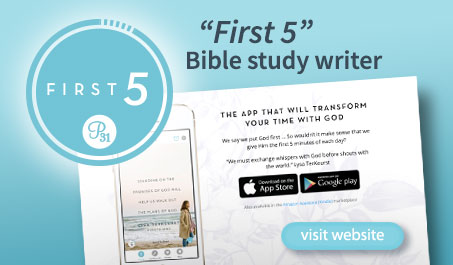 First 5 Bible study writer